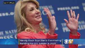 Former Texas State Senator, Democratic Gubernatorial Candidate Wendy Davis Considering US Senate Run [Video]