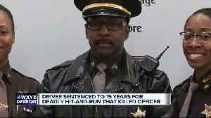 Man sentenced to up to 15 years in prison for hit-and-run that killed Wayne Co. sergeant [Video]