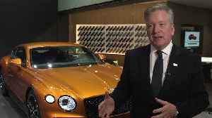 Bentley at Geneva Motor Show 2019 - Adrian Hallmark [Video]