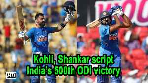 India Vs Australia | 2nd ODI | Kohli, Shankar script India's 500th ODI victory [Video]