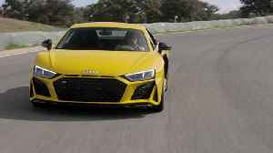 Audi R8 in Vegas Yellow on the track [Video]