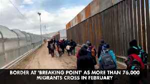 Border at 'Breaking Point' as More Than 76,000 Migrants Cross in February [Video]