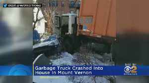 Garbage Truck Hits Mt. Vernon House [Video]