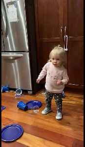 Happy toddler can't stop dancing to Miley Cyrus [Video]