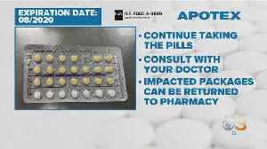 Apotex Birth Control Pills Recalled [Video]