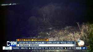 Car drives down embankment in East County chase [Video]