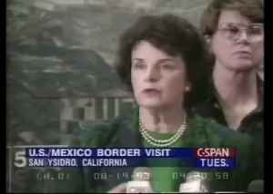 Dianne Feinstein, 1993, speaking out against illegal immigration [Video]