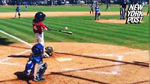 One-armed Little League player wows crowd with two home runs [Video]