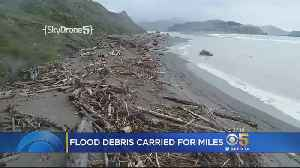 Fast-Flowing Russian River Left Huge Piles Of Debris On California Coast [Video]