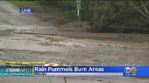 Rain Continues To Pummel The Burn Areas [Video]