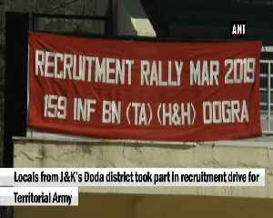 JK youth take part in recruitment drive for Territorial Army [Video]