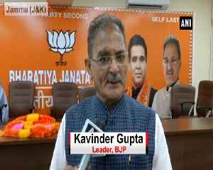 Arrest Mehbooba Mufti if she supports Jamaat-e-Islami BJP Kavinder Gupta [Video]