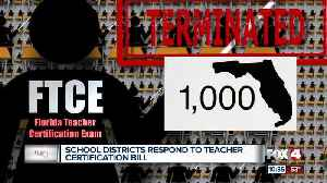 Florida school districts respond to bill taking aim at teacher certification (FTCE) controversy [Video]