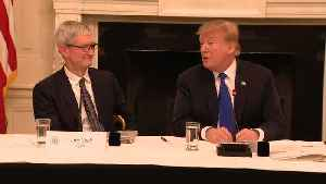 Raw Video: Trump Calls Apple CEO Tim Cook 'Tim Apple' In White House [Video]