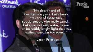 Jason Priestley Speaks Out for the First Time Following Luke Perry's Death: I Am 'in So Much Pain' [Video]
