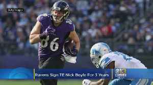 Ravens Get Jump On Free Agency, Sign TE Nick Boyle For 3 Years [Video]