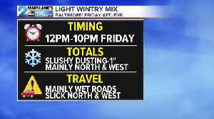 Wintry Mix Friday, Weekend Warmup [Video]