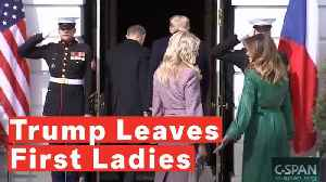 Watch:  Trump Leaves First Ladies Hanging Outside White House During Czech Leader's Visit [Video]