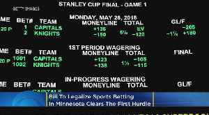 Bill To Legalize Sports Betting In Minnesota Clears 1st Hurdle [Video]