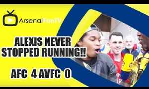 Alexis Never Stopped Running!! | Arsenal 4 Aston Villa 0 | FA Cup Final [Video]