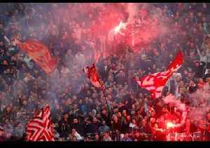 Red Star Belgrade Fans Marching To The Emirates Stadium!!!! [Video]