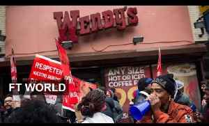 Fast food protest hits the US [Video]