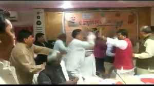 Indian politicians get off on wrong foot in 'shoe brawl' [Video]