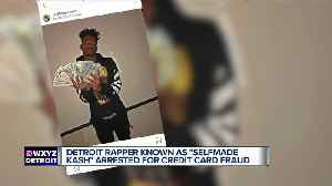 Detroit rapper who wears gold credit card necklace charged with credit card theft [Video]