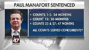 Ex-Trump campaign chair Manafort sentenced to 47 months in prison, well below Mueller's request [Video]
