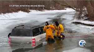 Incredible water rescue by firefighters caught on camera in Frenchtown Township [Video]