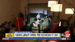 Free recording studio for musicians opens at Hudson library [Video]