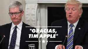 El último despieste de Trump: Llama al CEO de Apple, Tim Apple [Video]