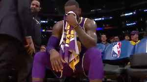 LeBron James Caught CRYING On Sidelines! [Video]