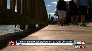 A new boardwalk, replacing one destroyed by Hurricane Irma, opens at Tin City in Naples [Video]