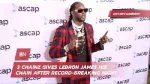2 Chainz Gives One Chain To Lebron [Video]