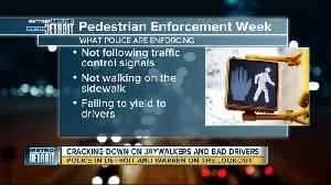 Michigan State Police cracking down on jaywalkers, bad drivers [Video]