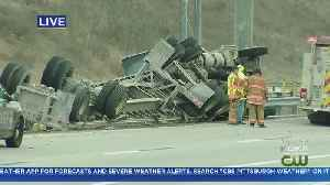 Tractor Trailer Rollover Causing Traffic Problems On Parkway West [Video]