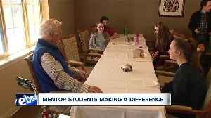 Mentor middle school students listen, learn from their elders during day of service [Video]