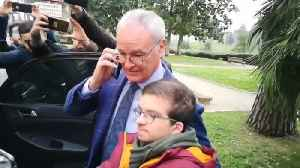 New AS Roma coach Ranieri arrives in Rome [Video]