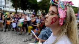 Thousands Take To The Streets In Brazil For International Women's Day [Video]