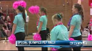 Pep rally to celebrate special olympians [Video]