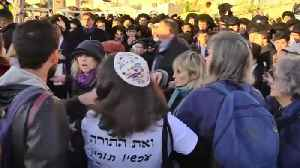 Ultra-Orthdox Jews try to block women's rally in Jerusalem [Video]