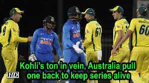 Kohli's ton in vein, Australia pull one back to keep series alive [Video]