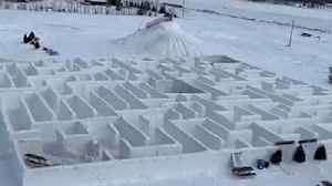 Giant Snow Maze in Canada Sets New Guinness World Record [Video]