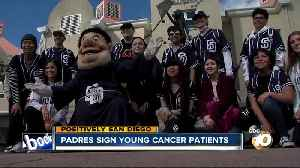 San Diego Padres sign young cancer patients [Video]