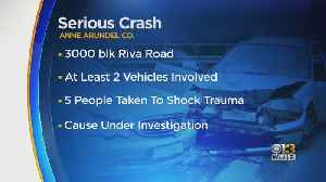 Five People Seriously Injured In Crash Near Annapolis-Area Crab House [Video]