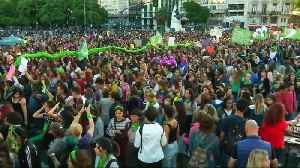 Thousands protest on International Women's Day in Buenos Aires [Video]