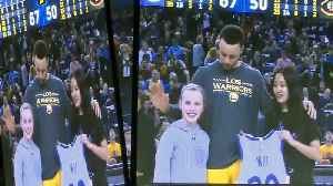 Warriors Star Steph Curry Delivers on 9-Year-Old Napa Girl's Challenge [Video]