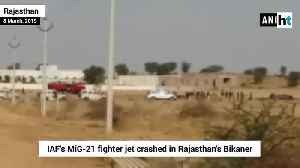 IAFs MiG-21 fighter jet crashes in Rajasthan pilot ejects safely [Video]