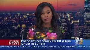 Long Island Police Officer Hit By Car [Video]